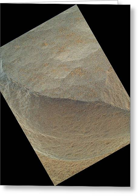 Merging Greeting Cards - Bathurst Inlet, Mars, Curiosity image Greeting Card by Science Photo Library