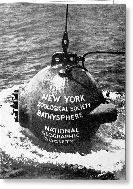Bathysphere Greeting Card by Cci Archives