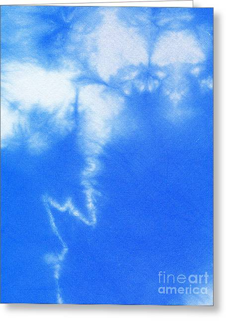 Shade Tapestries - Textiles Greeting Cards - Batik lightning Greeting Card by Kerstin Ivarsson