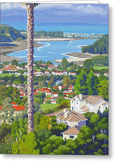 Costa Paintings Greeting Cards - Batiquitos Lagoon 2014 Greeting Card by Mary Helmreich