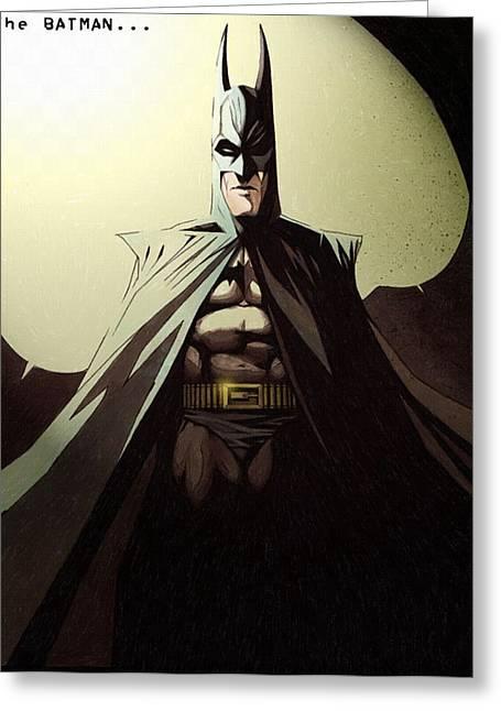 Batman Greeting Cards - Batman - the dark knight rises prints Greeting Card by Victor Gladkiy