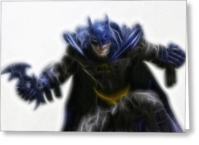 Caped Crusader Greeting Cards - Batman - The Jokers Dream Greeting Card by Lee Dos Santos