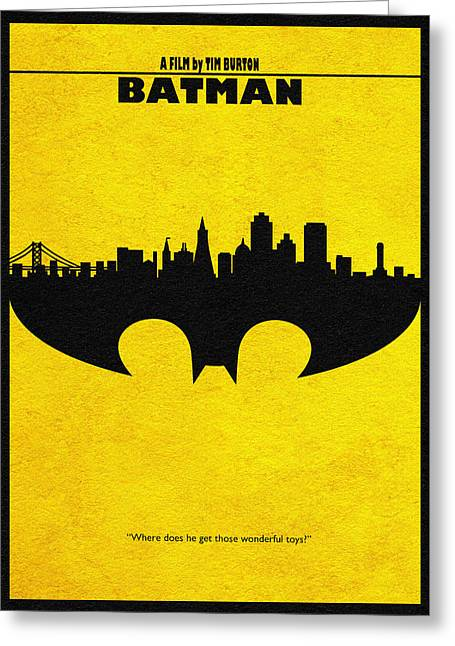 Batman Greeting Cards - Batman - 1989 Greeting Card by Ayse Deniz