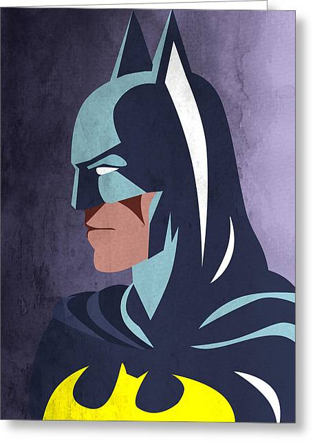 Batman Greeting Cards - Batman 2 Greeting Card by Mark Ashkenazi