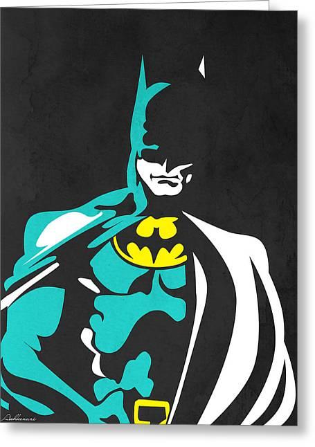 Human Being Greeting Cards - Batman 4 Greeting Card by Mark Ashkenazi