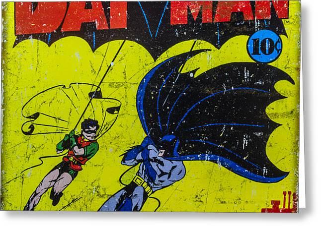 Batman And Robin Greeting Card by Mitch Shindelbower