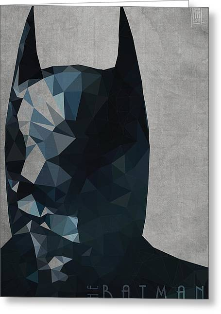 Caped Crusader Greeting Cards - Batman Greeting Card by Daniel Hapi