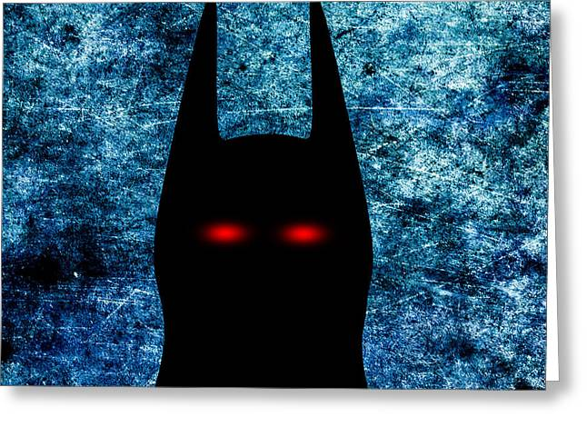 Crime Fighter Greeting Cards - Batman - Dark Knight Number 1 Greeting Card by Bob Orsillo