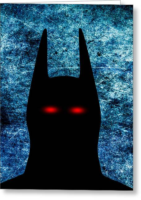 Crime Fighter Digital Art Greeting Cards - Batman - Dark Knight Number 1 Greeting Card by Bob Orsillo