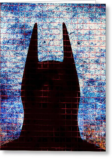 Crime Fighter Digital Art Greeting Cards - Batman - Dark Knight Number 3 Greeting Card by Bob Orsillo