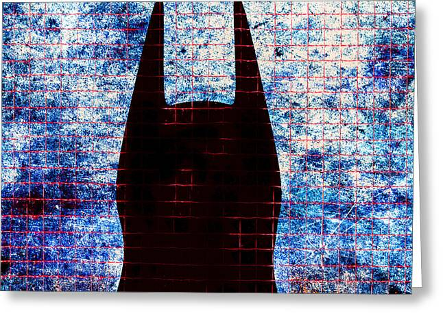 Crime Fighter Greeting Cards - Batman - Dark Knight Number 3 Greeting Card by Bob Orsillo