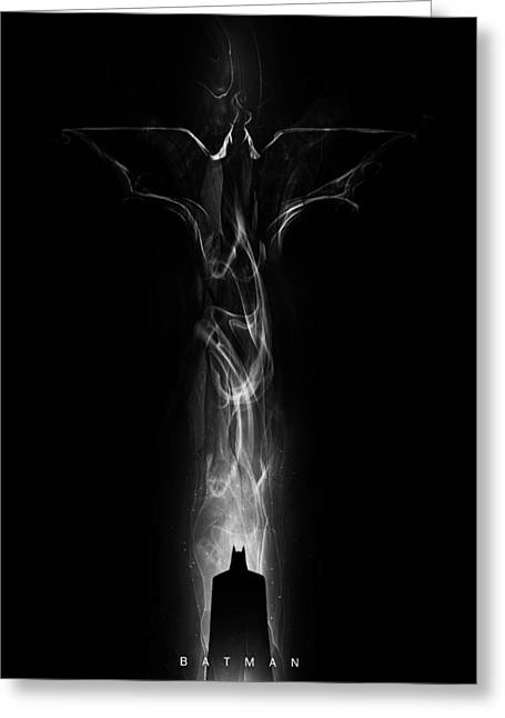 Dc Comics Greeting Cards - Batman - Dark Vapour  Greeting Card by Alyn Spiller