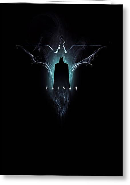Knighted Greeting Cards - Batman - Dark Vapours Greeting Card by Alyn Spiller