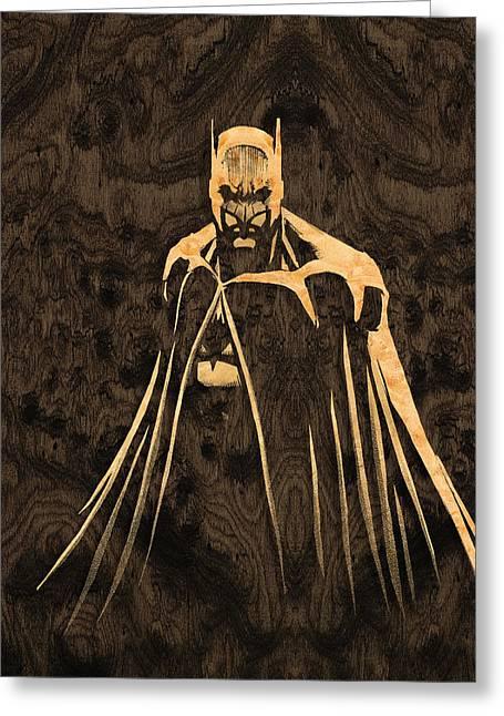 Batman Greeting Cards - Batman Fan Art Greeting Card by Rick Mosher