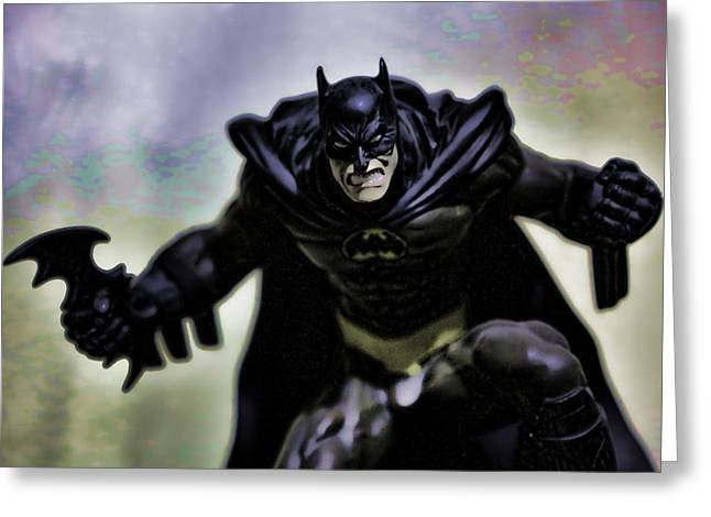 Caped Crusader Greeting Cards - Batman Greeting Card by Lee Dos Santos
