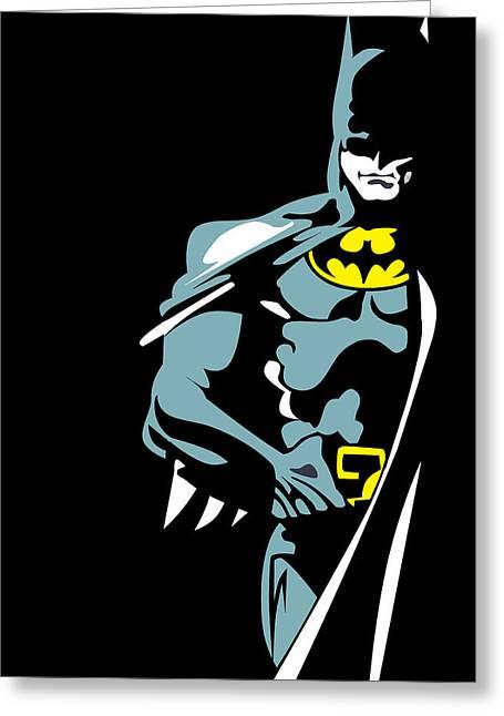 Batman Greeting Cards - Batman  Greeting Card by Mark Ashkenazi