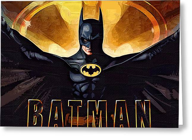 Gotham City Paintings Greeting Cards - Batman Number 1 Greeting Card by Victor Gladkiy