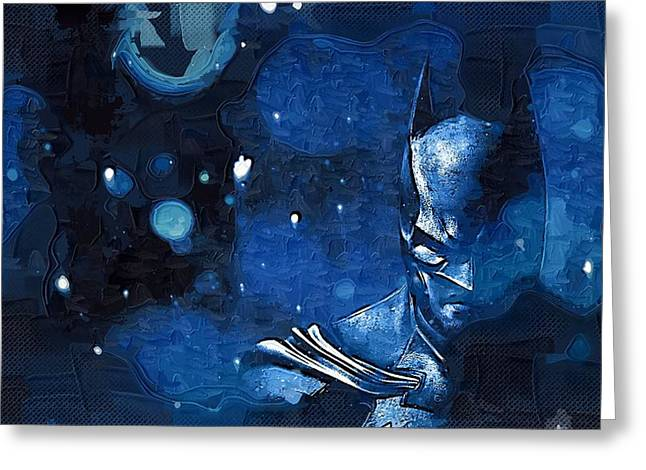 Gotham City Paintings Greeting Cards - Batman Number 10 Greeting Card by Victor Gladkiy