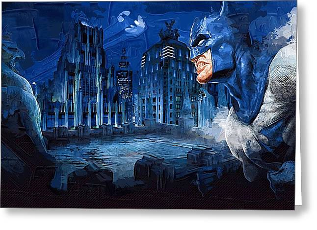 Gotham City Paintings Greeting Cards - Batman Number 11 Greeting Card by Victor Gladkiy