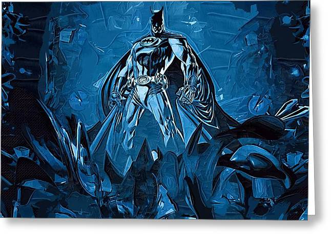 Gotham City Paintings Greeting Cards - Batman Number 12 Greeting Card by Victor Gladkiy