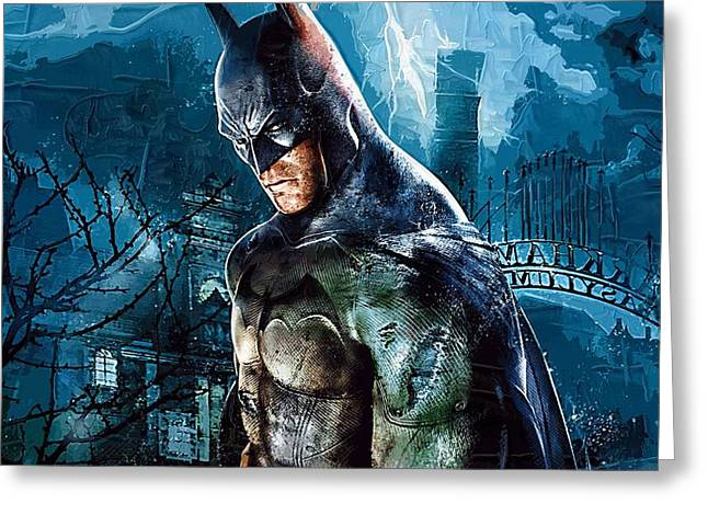 Gotham City Paintings Greeting Cards - Batman Number 2 Greeting Card by Victor Gladkiy