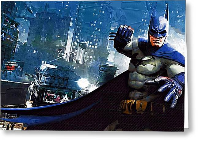Gotham City Paintings Greeting Cards - Batman Number 6 Greeting Card by Victor Gladkiy