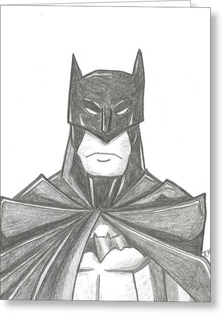 Caped Crusader Greeting Cards - Batman Greeting Card by Ray Ratzlaff