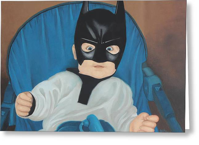 Becky Greeting Cards - Batman rides again Greeting Card by Becky West