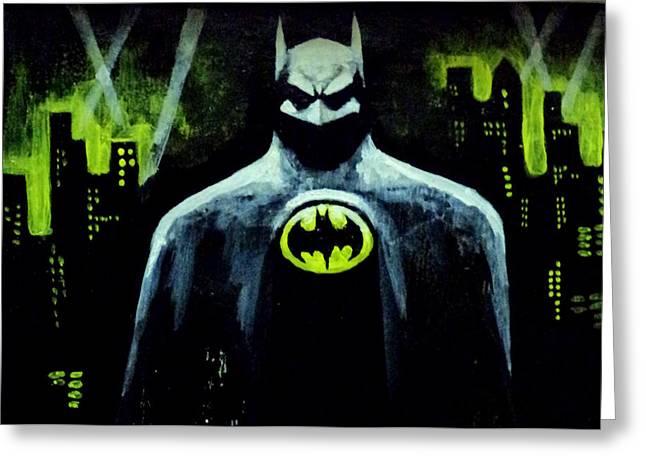 Batman Greeting Card by Salman Ravish