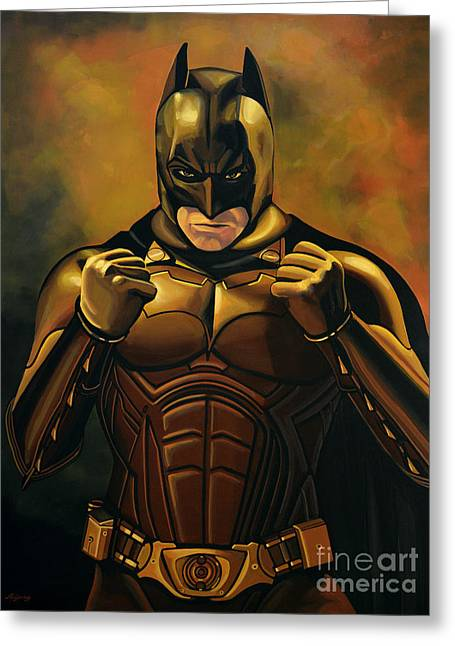 Gotham City Paintings Greeting Cards - Batman The Dark Knight Greeting Card by Paul Meijering