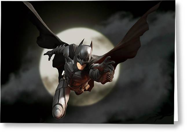 Dc Comics Greeting Cards - Batman - The Dark Knight Greeting Card by Paul Tagliamonte