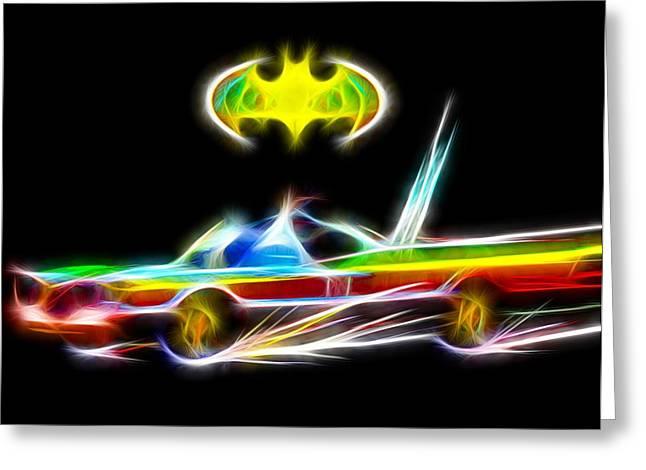 Batmobile Greeting Card by Daniel Janda