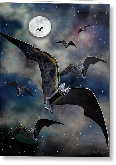 Night Sculptures Greeting Cards - Bats Greeting Card by Ric Pollock