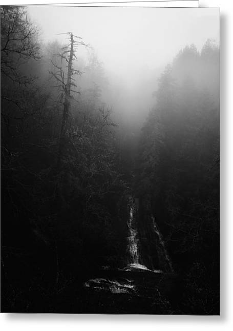 Waterfall Photography Greeting Cards - Batson Creek Falls Fog Greeting Card by Ben Shields