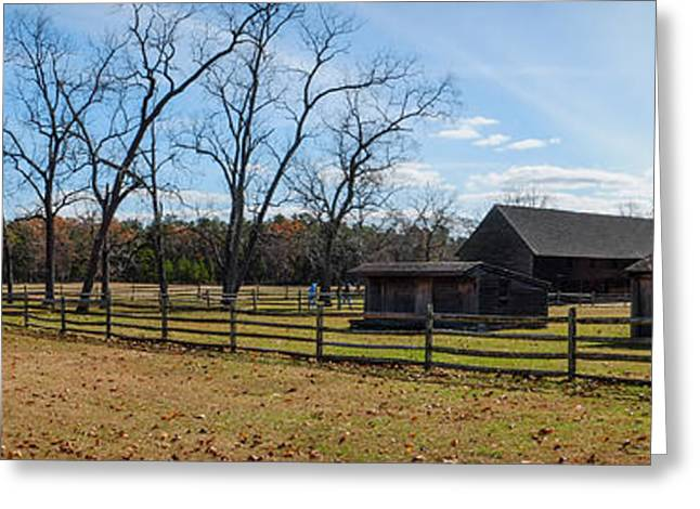 Outbuildings Greeting Cards - Batsto Village Barns Greeting Card by Glenn DiPaola