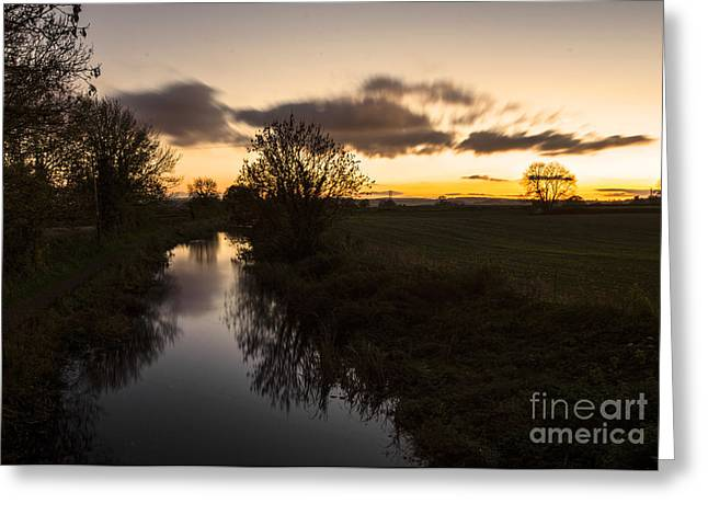 Peverell Greeting Cards - Battens Bridge Sunset  Greeting Card by Rob Hawkins