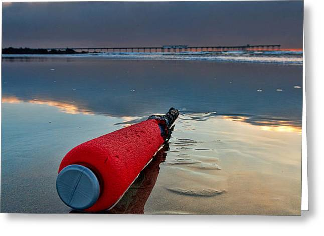 Batter-ed by the Sea Greeting Card by Peter Tellone