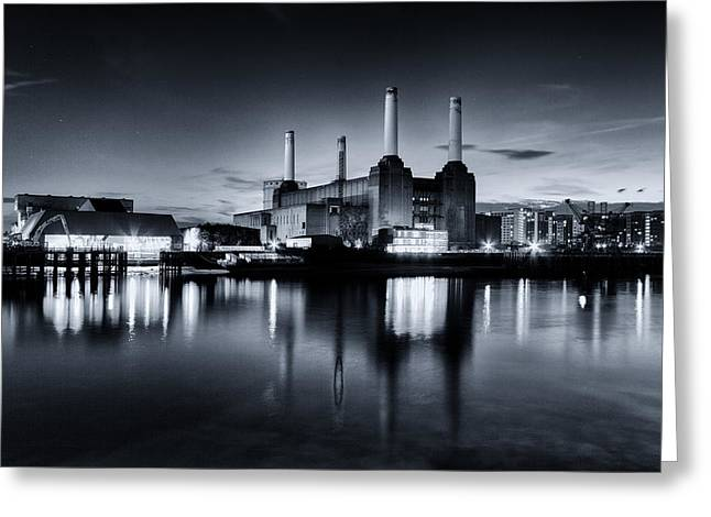 Thames River Greeting Cards - Battersea Blues Greeting Card by Ian Hufton