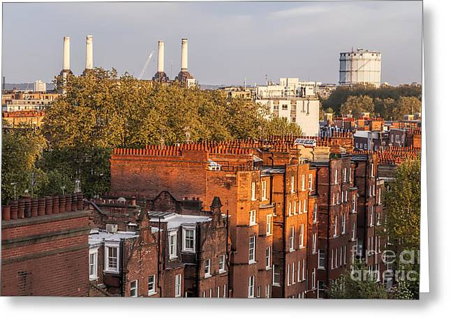 Battersea Power Station London From The Rooftop Greeting Card by Philip Pound