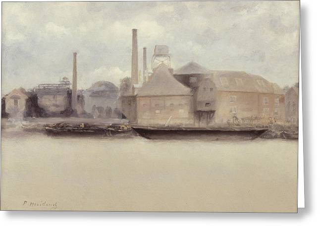 River Thames Greeting Cards - Battersea Reach Greeting Card by Paul Fordyce Maitland