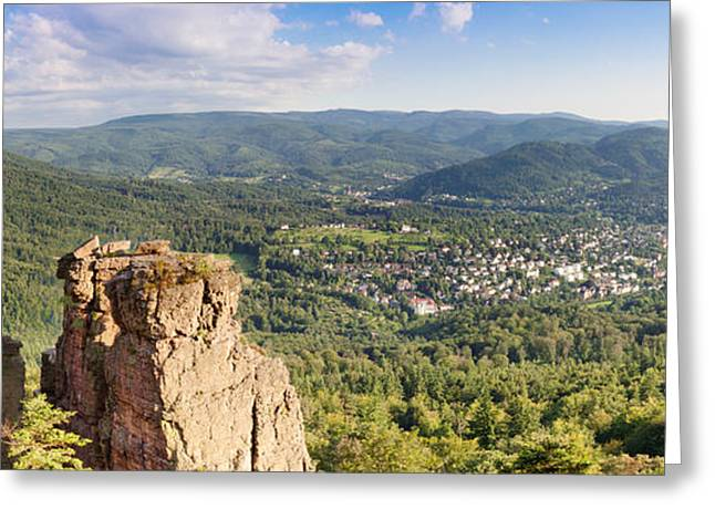 Baden-baden Greeting Cards - Battert-rock Formations, Baden-baden Greeting Card by Panoramic Images