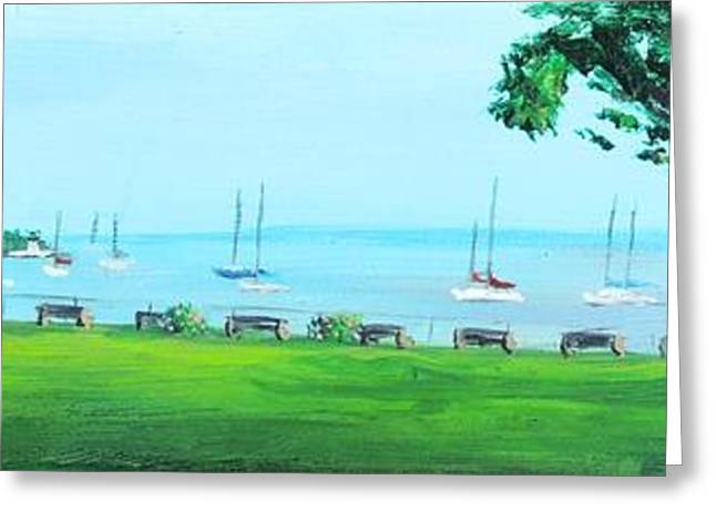Historic Site Greeting Cards - Battery Park Newport RI Greeting Card by Patty Kay Hall