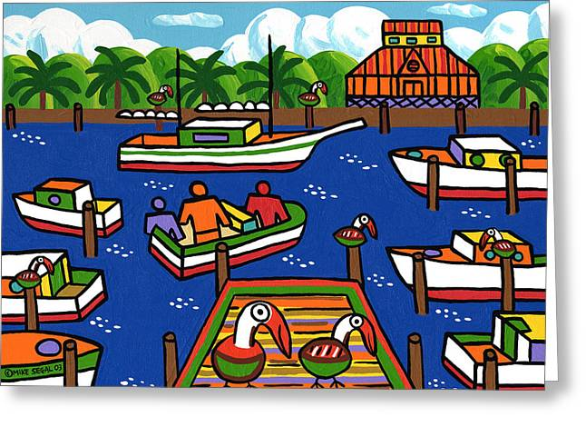 Mike Segal Greeting Cards - Battery Pier - Apalachicola Greeting Card by Mike Segal