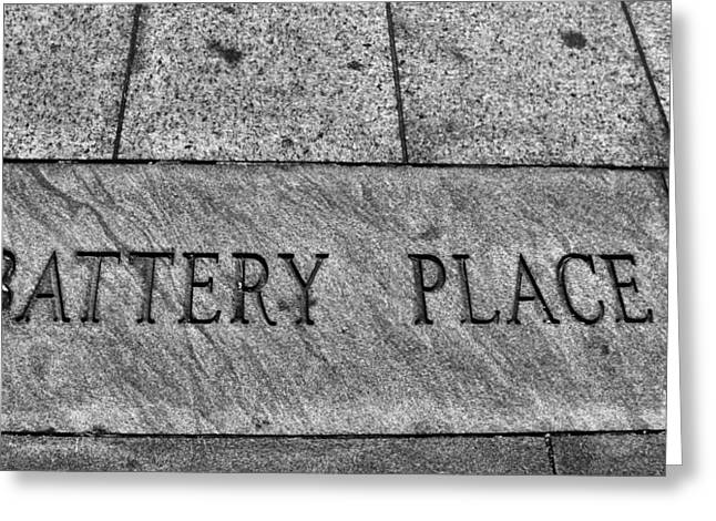 Battery Park Greeting Cards - Battery Place Greeting Card by Dan Sproul
