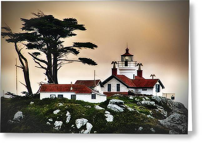 Just Right Greeting Cards - Battery Point Light House Crescent City CA Greeting Card by James Heckt