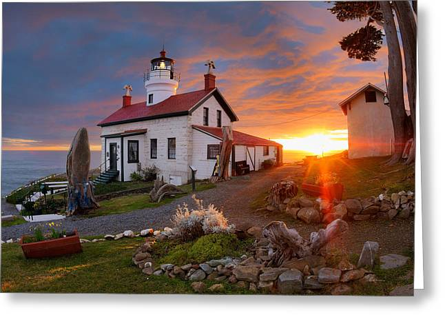 Leland Howard Greeting Cards - Battery Point Lighthouse Greeting Card by Leland D Howard