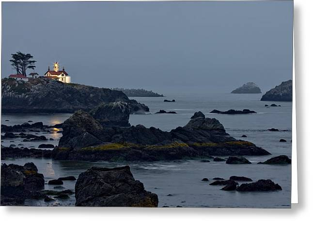 Damnation Greeting Cards - Battery Point Lighthouse Greeting Card by Ralph Nordstrom