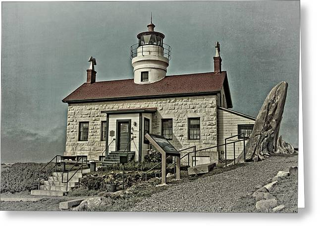 Warm Greeting Cards - Battery Point Lighthouse Greeting Card by Thom Zehrfeld