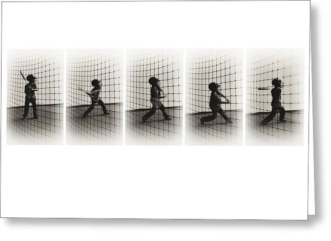 Batting Helmet Greeting Cards - Batting Sequence Greeting Card by Greg Jackson
