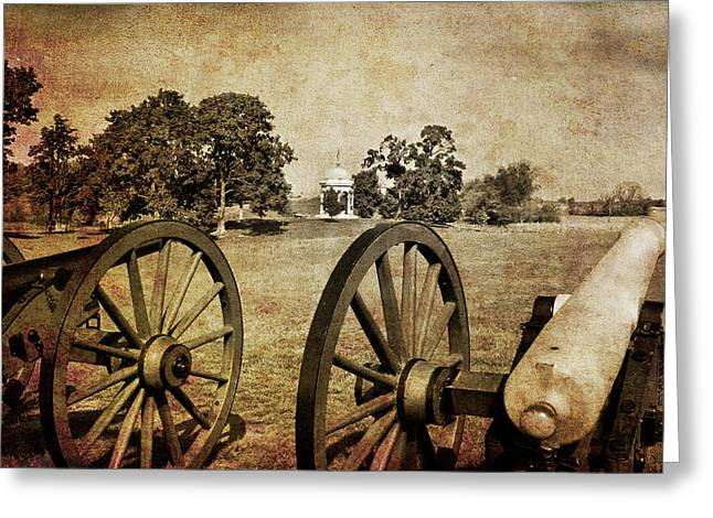 Antietam Greeting Cards - Battle Line at Antietam Greeting Card by Mick Burkey